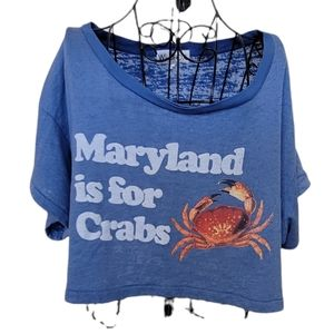 WILDFOX Maryland is for Crabs funny crop tee